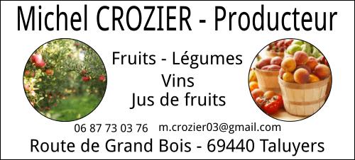 Michel Crozie producteur fruits et légumes taluyers